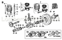 Picture of CONN.ROD/ PISTON/ CRANKSHAFT/ CAMSHAFT/ FLYWHEEL/ EQUALIZER/ STARTING PULLEY