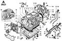 Picture of CRANKCASE/ OIL SUMP/ OIL DIPSTICK/ THROTTLE COVER/ GASKET SET
