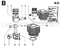 Picture of CONNECTING ROD/ PISTON SET/ CYLINDER