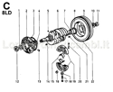 Picture of CRANKSHAFT AND SUPPORTS/ FLYWHEEL